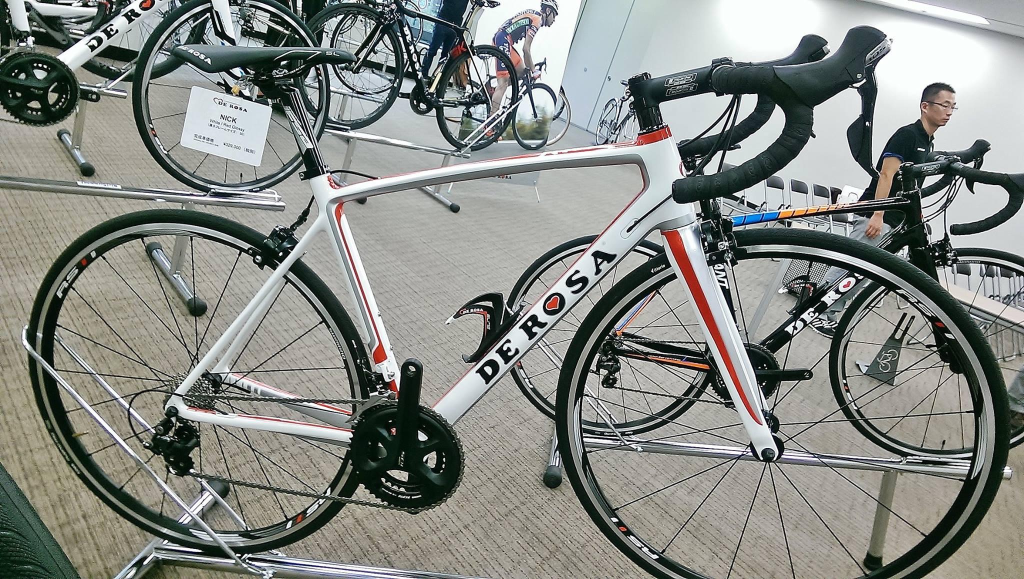 2016 DE ROSA 展示会 デ ローザ イタリアブランド Nick ニック フルカーボン 完成車 サイクリング ロングライド レース 広島県福山市