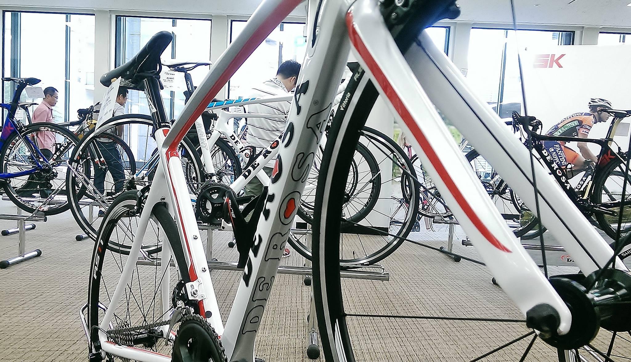 2016 DE ROSA 展示会 デ ローザ イタリアブランド NEWモデル Nick ニック フルカーボン 完成車 サイクリング ロングライド レース 広島県福山市